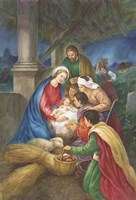 Away in a Manger Fine Art Print