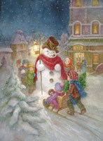 Frosty the Snowman Fine Art Print