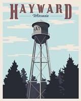 Hayward Water Tower Framed Print