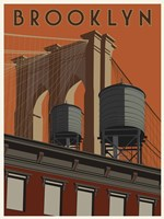 Brooklyn Travel Poster Fine Art Print