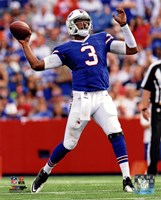 E.J. Manuel 2013 with the ball Fine Art Print
