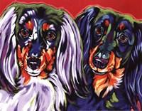 """Holly & Libby by Sally Evans - 14"""" x 11"""""""