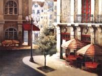 Cafe on the Corner Fine Art Print