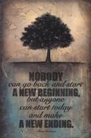 "Make a New Ending by Britt Hallowell - 12"" x 18"", FulcrumGallery.com brand"