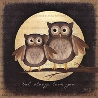 Owl Always Love You - Pair of Owls Fine Art Print
