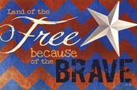 """Land of the Free by Marla Rae - 18"""" x 12"""", FulcrumGallery.com brand"""