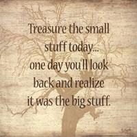 "Treasure the Small Stuff by Lauren Rader - 12"" x 12"" - $10.49"
