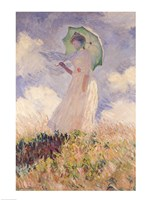 Woman with Parasol turned to the Left, 1886 Fine Art Print