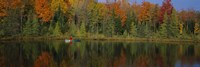 """Reflection of trees in water, near Antigo, Wisconsin, USA by Panoramic Images - 27"""" x 9"""""""