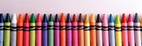 Close-up of assorted wax crayons Fine Art Print