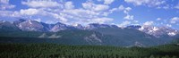 """Mountains fr Beaver Meadows Rocky Mt National Park CO USA by Panoramic Images - 27"""" x 9"""""""