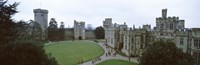 """High angle view of buildings in a city, Warwick Castle, Warwickshire, England by Panoramic Images - 27"""" x 9"""""""