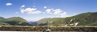 """Coin operated binoculars on an observation point, Rocky Mountain National Park, Colorado, USA by Panoramic Images - 27"""" x 9"""""""