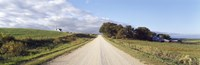 Dirt road leading to a church, Iowa, USA Fine Art Print