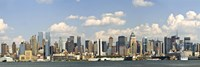 "City at the waterfront, New York City, New York State, USA 2010 by Panoramic Images, 2010 - 27"" x 9"""