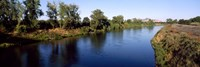 """River with a mountain in the background, Sacramento River, Sutter Butte, California, USA by Panoramic Images - 27"""" x 9"""""""