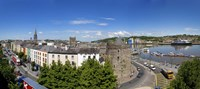 """Quayside, Reginald's Tower, River Suir, Waterford City, County Waterford, Republic of Ireland by Panoramic Images - 27"""" x 12"""""""