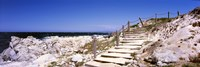 """Staircase on the coast, Pacific Grove, Monterey County, California, USA by Panoramic Images - 27"""" x 9"""", FulcrumGallery.com brand"""