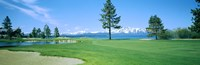 """Sand trap in a golf course, Edgewood Tahoe Golf Course, Stateline, Douglas County, Nevada by Panoramic Images - 27"""" x 9"""""""
