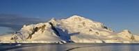 Snowcapped Mountain Andvord Bay Antarctic Peninsula