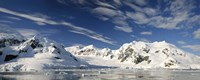 """Mountains and glaciers, Paradise Bay, Antarctic Peninsula by Panoramic Images - 27"""" x 9"""""""