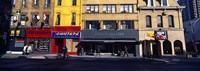"""Stores at the roadside in a city, Toronto, Ontario, Canada by Panoramic Images - 27"""" x 9"""" - $28.99"""