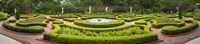"""Fountain in a garden, Latham Memorial Garden, Tryon Palace, New Bern, North Carolina, USA by Panoramic Images - 27"""" x 9"""", FulcrumGallery.com brand"""