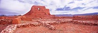 """Ruins of the Mission, Pecos National Historical Park, Pecos, New Mexico, USA by Panoramic Images - 27"""" x 9"""""""