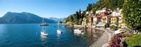 Early evening view of waterfront at Varenna, Lake Como, Lombardy, Italy Fine Art Print