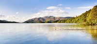 """Lake with mountains in the background, Derwent Water, Lake District National Park, Cumbria, England by Panoramic Images - 27"""" x 9"""""""