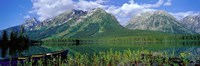"""Canoe Leigh Lake, Grand Teton National Park by Panoramic Images - 36"""" x 12"""""""