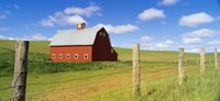 """Barn in a field by Panoramic Images - 36"""" x 12"""""""