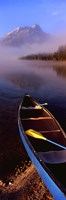 "Canoe and Leigh Lake in the Fog, Grand Teton National Park, Wyoming by Panoramic Images - 12"" x 36"""
