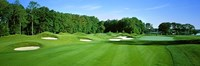 """Sand traps in a golf course, River Run Golf Course, Berlin, Worcester County, Maryland, USA by Panoramic Images - 36"""" x 12"""""""