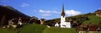 """Swiss village in Rhone Valley, Switzerland by Panoramic Images - 36"""" x 12"""""""