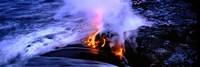 "Lava flowing from a volcano, Kilauea, Hawaii Volcanoes National Park, Big Island, Hawaii, USA by Panoramic Images - 36"" x 12"""