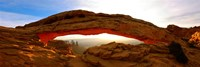 "Mesa Arch glowing at sunrise, Canyonlands National Park, Utah, USA by Panoramic Images - 36"" x 12"""