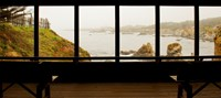 Coastal viewed from a shed at Mendocino Coast Botanical Gardens, Fort Bragg, California, USA Fine Art Print