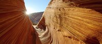 """Sun shining through rock formations, The Wave, Coyote Buttes, Utah, USA by Panoramic Images - 36"""" x 12"""""""