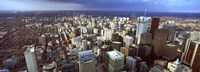 "Aerial view of a city, Toronto, Ontario, Canada 2011 by Panoramic Images, 2011 - 36"" x 12"""