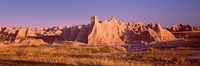Rock formations in a desert, Badlands National Park, South Dakota, USA Fine Art Print