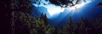 "Tunnel View Point at sunrise, Yosemite National Park, California, USA by Panoramic Images - 36"" x 12"""