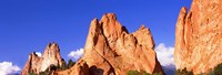 "Low angle view of rock formations, Garden of The Gods, Colorado Springs, Colorado, USA by Panoramic Images - 36"" x 12"""