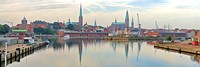 Buildings at the Trave River, Germany by Panoramic Images - various sizes