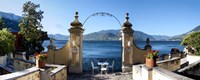 """View of Lake Como from a patio, Varenna, Lombardy, Italy by Panoramic Images - 36"""" x 12"""""""