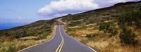 Road passing through hills, Maui, Hawaii, USA Fine Art Print