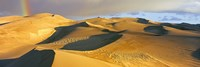 Rainbow at Great Sand Dunes National Park, Colorado, USA Fine Art Print