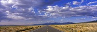 US Highway 160 through Great Sand Dunes National Park and Preserve, Colorado, USA Fine Art Print