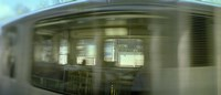 """Train at railroad station platform, Evanston, Cook County, Illinois, USA by Panoramic Images - 36"""" x 12"""""""