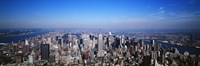 "Aerial View, New York City, NYC, New York State, USA by Panoramic Images - 27"" x 9"""